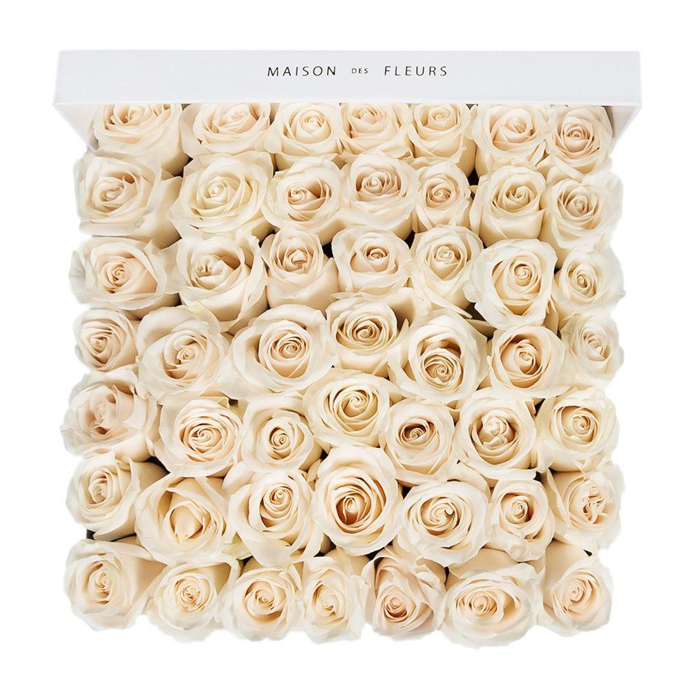 Кремовые розы в коробке