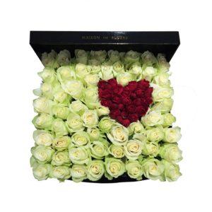 Сердце из красных роз Maison des Fleurs