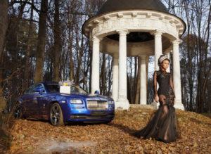 Диана Пегас в рекламном ролике Rolls-Royce и Maison des Fleurs